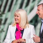 The Minister for Jobs, Enterprise and Innovation, Mary Mitchell O'Connor TD is pictured with Karl Flannery, CEO of Storm Technology and Chair of the Tech/Life Ireland Delivery Group, at the launch of Tech/Life Ireland, a new national initiative to brand Ireland as a top destination to pursue a career in technology.